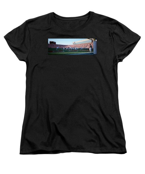 Football Game, Soldier Field, Chicago Women's T-Shirt (Standard Cut) by Panoramic Images