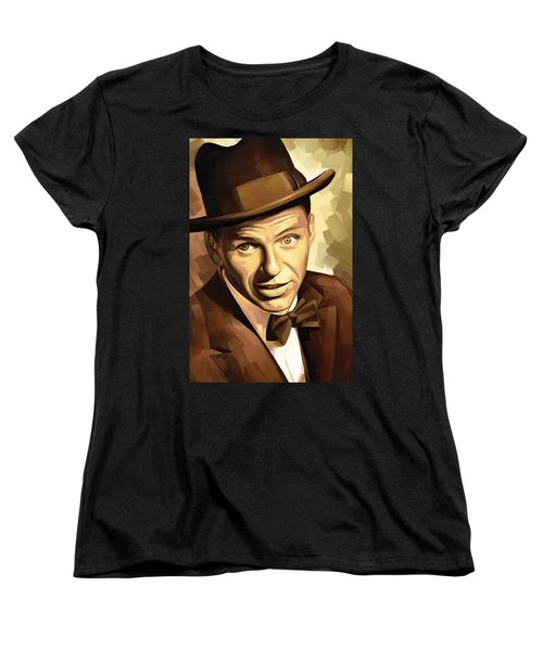 Frank Sinatra Artwork 2 Women's T-Shirt (Standard Cut) by Sheraz A