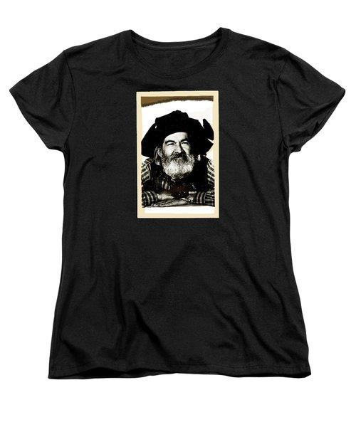 George Hayes Portrait #1 Card Women's T-Shirt (Standard Cut) by David Lee Guss
