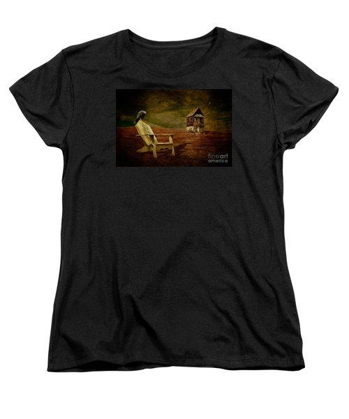 Hard Times Women's T-Shirt (Standard Cut) by Lois Bryan