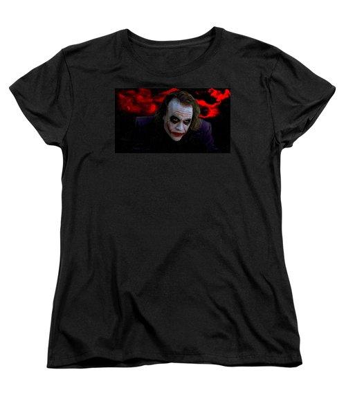 Heath Ledger As Joker Women's T-Shirt (Standard Cut) by Image World