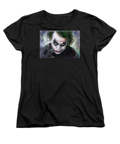 Heath Ledger The Dark Knight Women's T-Shirt (Standard Cut) by Viola El