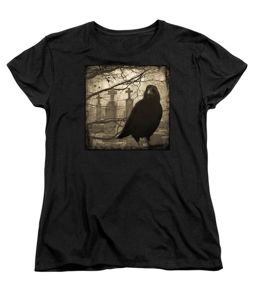 Her Graveyard Women's T-Shirt (Standard Cut) by Gothicolors Donna