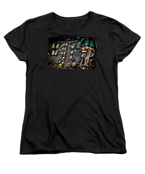 Huey Instrument Panel Women's T-Shirt (Standard Cut) by David Morefield