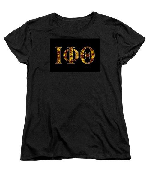Iota Phi Theta - Black Women's T-Shirt (Standard Cut) by Stephen Younts