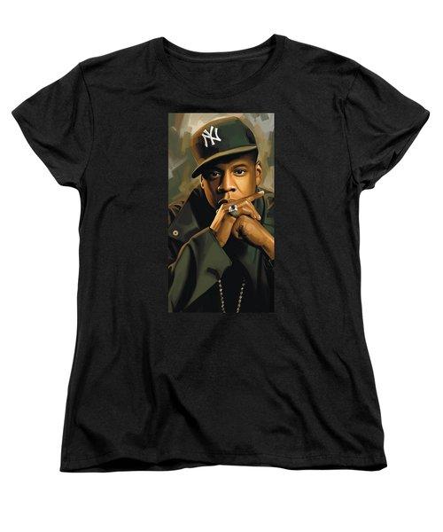 Jay-z Artwork 2 Women's T-Shirt (Standard Cut) by Sheraz A