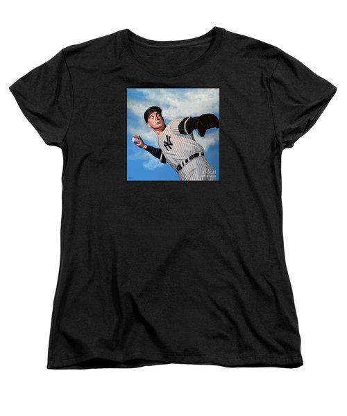 Joe Dimaggio Women's T-Shirt (Standard Cut) by Paul Meijering