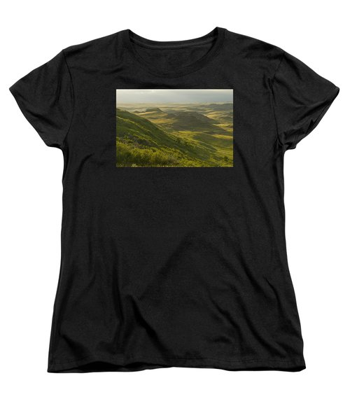 Killdeer Badlands In East Block Of Women's T-Shirt (Standard Cut) by Dave Reede