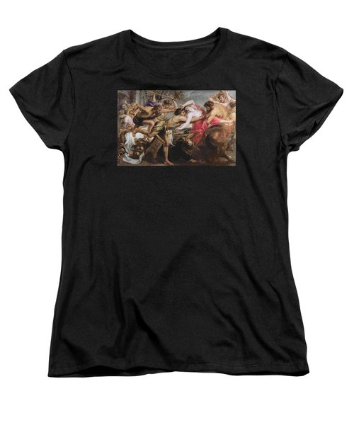 Lapiths And Centaurs Oil On Canvas Women's T-Shirt (Standard Cut) by Peter Paul Rubens