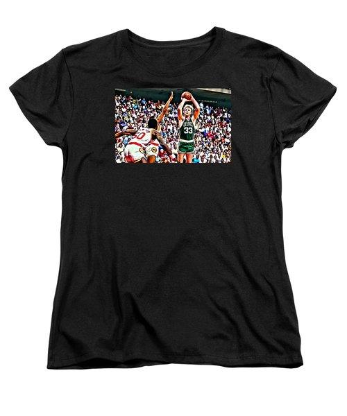 Larry Bird Women's T-Shirt (Standard Cut) by Florian Rodarte