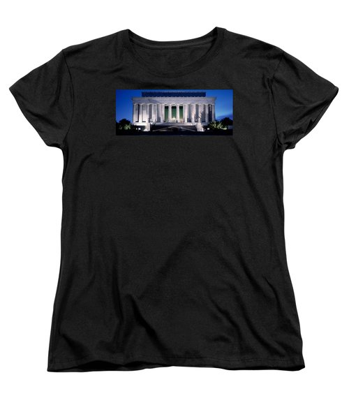 Lincoln Memorial At Dusk, Washington Women's T-Shirt (Standard Cut) by Panoramic Images