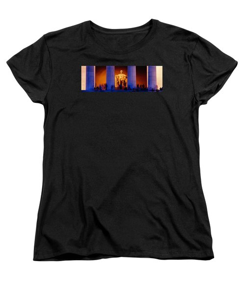 Lincoln Memorial, Washington Dc Women's T-Shirt (Standard Cut) by Panoramic Images