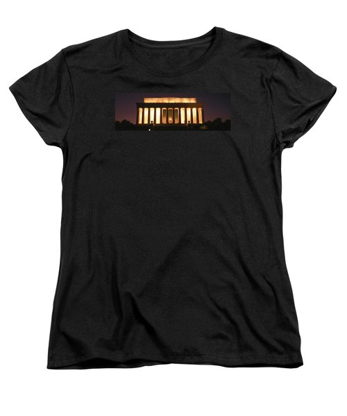Lincoln Memorial Washington Dc Usa Women's T-Shirt (Standard Cut) by Panoramic Images