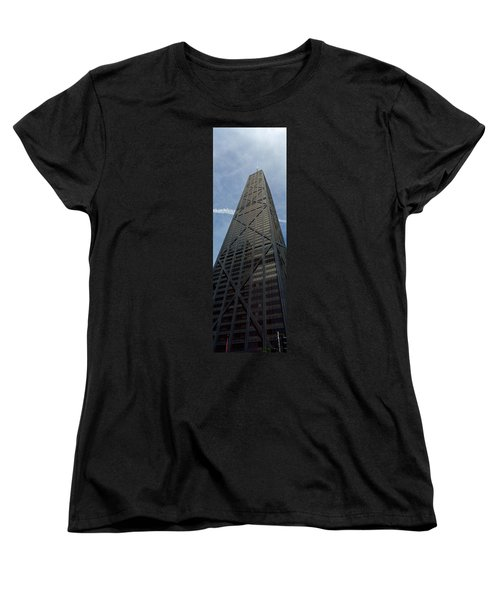 Low Angle View Of A Building, Hancock Women's T-Shirt (Standard Cut) by Panoramic Images
