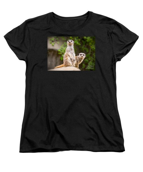 Meerkat Pair Women's T-Shirt (Standard Cut) by Jamie Pham