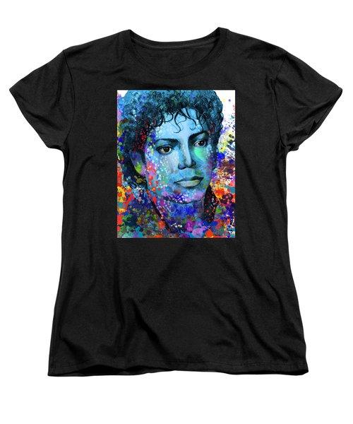 Michael Jackson 14 Women's T-Shirt (Standard Cut) by Bekim Art