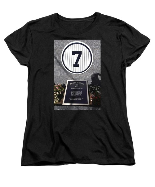 Mickey Mantle Women's T-Shirt (Standard Cut) by Allen Beatty