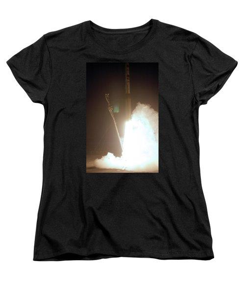 Minotaur Rocket Launch Women's T-Shirt (Standard Cut) by Science Source