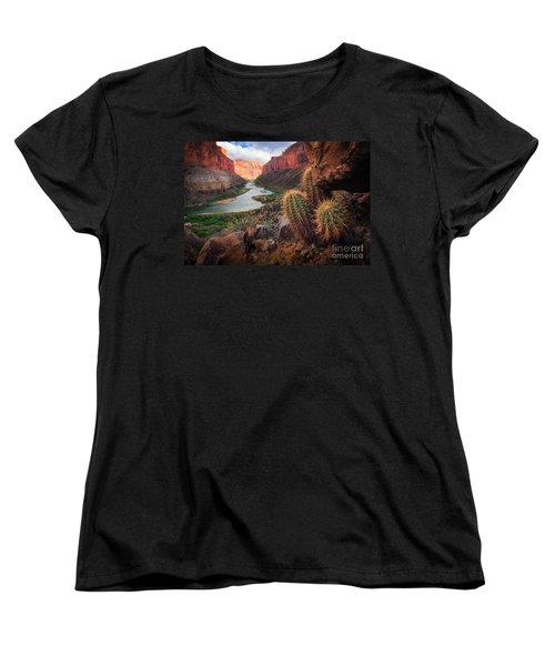 Nankoweap Cactus Women's T-Shirt (Standard Cut) by Inge Johnsson