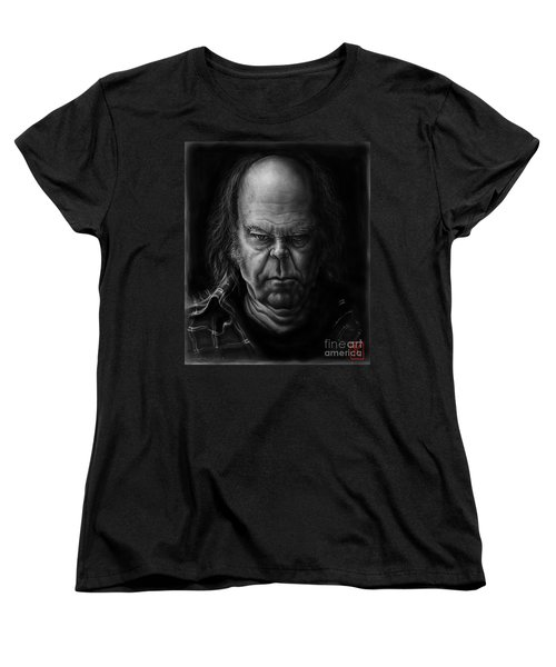 Neil Young Women's T-Shirt (Standard Cut) by Andre Koekemoer