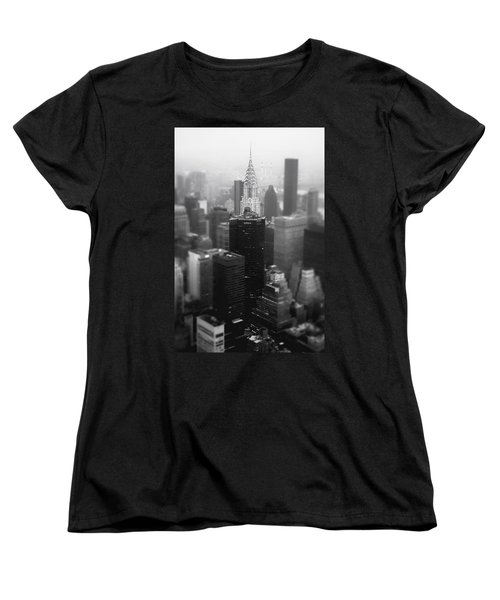 New York City - Fog And The Chrysler Building Women's T-Shirt (Standard Cut) by Vivienne Gucwa