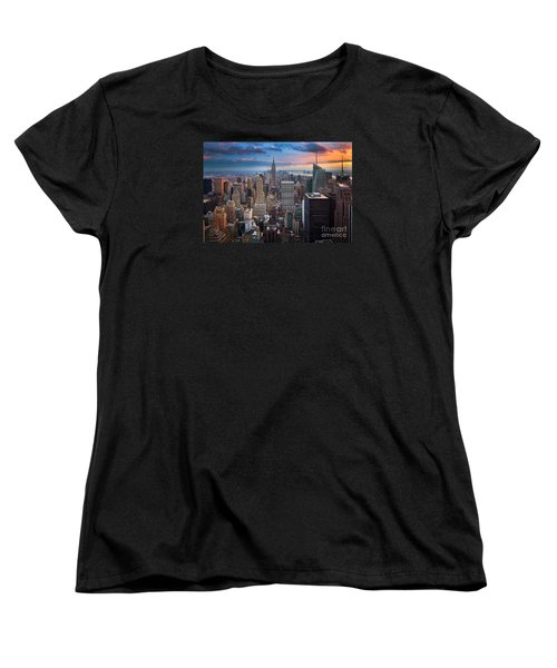 New York New York Women's T-Shirt (Standard Cut) by Inge Johnsson