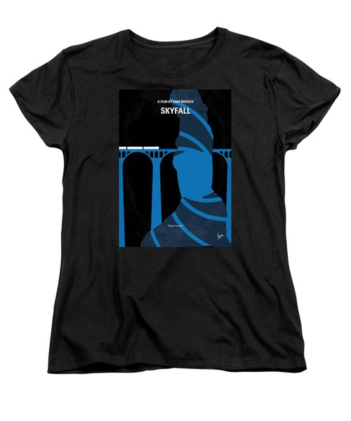 No277-007-2 My Skyfall Minimal Movie Poster Women's T-Shirt (Standard Cut) by Chungkong Art