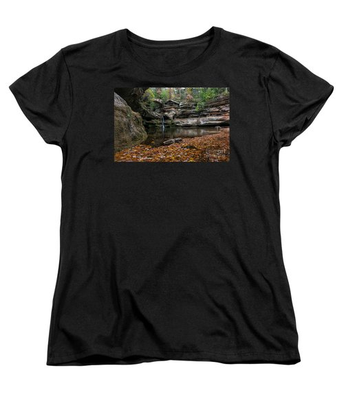 Old Mans Cave Women's T-Shirt (Standard Cut) by James Dean