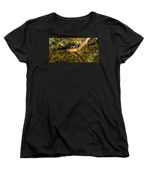 Oriental Darter Anhinga Melanogaster Women's T-Shirt (Standard Cut) by Panoramic Images