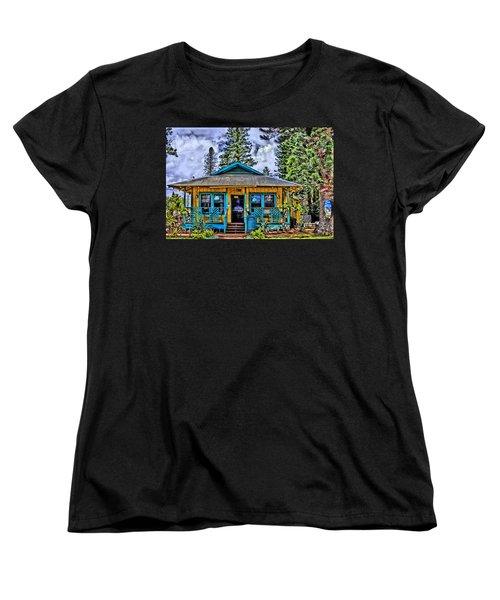 Pele's Lanai Island Hawaii Women's T-Shirt (Standard Cut) by DJ Florek