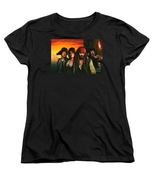 Pirates Of The Caribbean  Women's T-Shirt (Standard Cut) by Paul Meijering