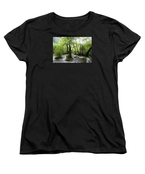 Women's T-Shirt (Standard Cut) featuring the photograph Plitvice Lakes by Travel Pics