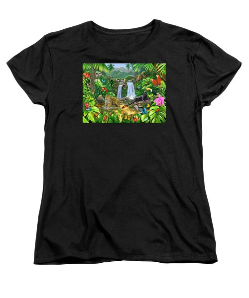 Rainforest Harmony Variant 1 Women's T-Shirt (Standard Cut) by Chris Heitt