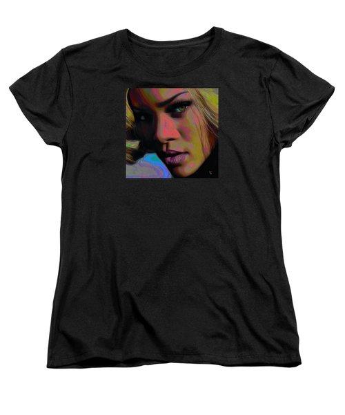 Ri Ri Women's T-Shirt (Standard Cut) by  Fli Art