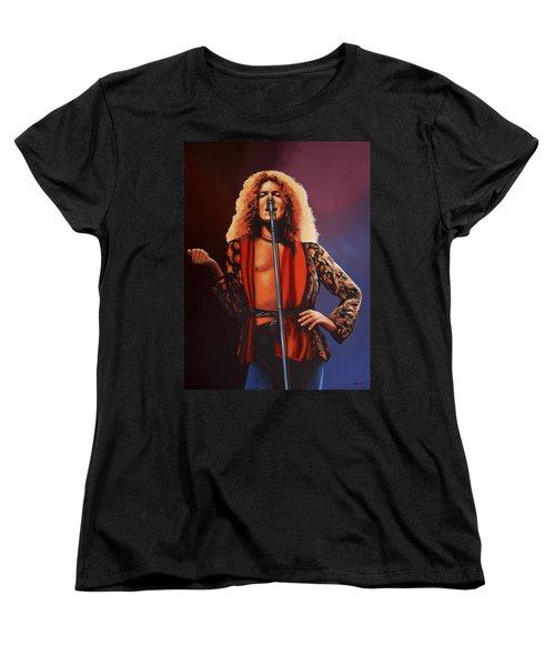 Robert Plant Of Led Zeppelin Women's T-Shirt (Standard Cut) by Paul Meijering