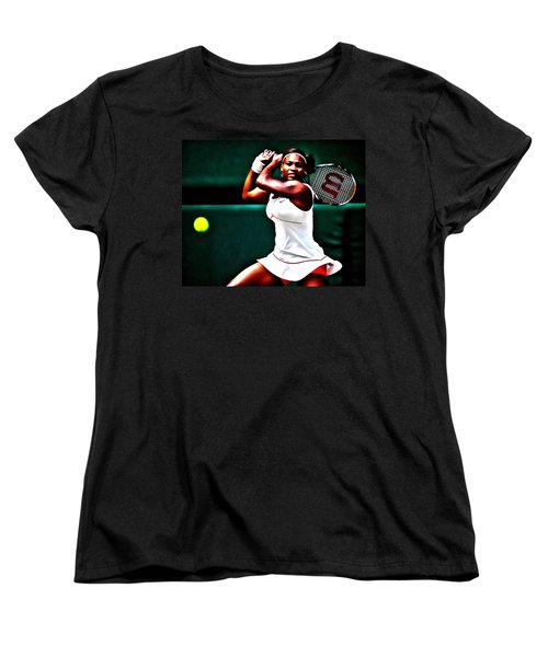 Serena Williams 3a Women's T-Shirt (Standard Cut) by Brian Reaves