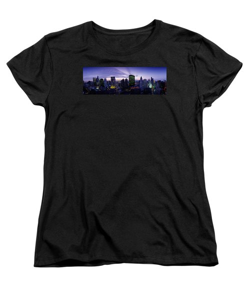 Skyscrapers, Chicago, Illinois, Usa Women's T-Shirt (Standard Cut) by Panoramic Images