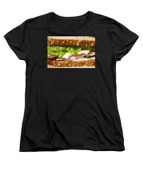Smoked Turkey Sandwich Women's T-Shirt (Standard Cut) by Edward Fielding