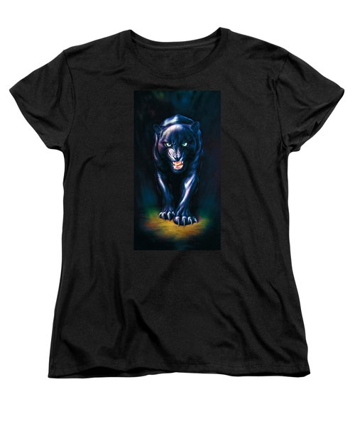 Stalking Panther Women's T-Shirt (Standard Cut) by Andrew Farley