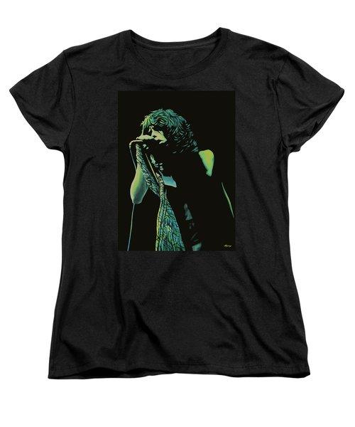 Steven Tyler 2 Women's T-Shirt (Standard Cut) by Paul Meijering