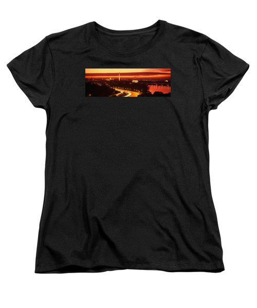 Sunset, Aerial, Washington Dc, District Women's T-Shirt (Standard Cut) by Panoramic Images