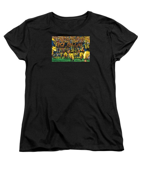 Take The Field Women's T-Shirt (Standard Cut) by John Farr