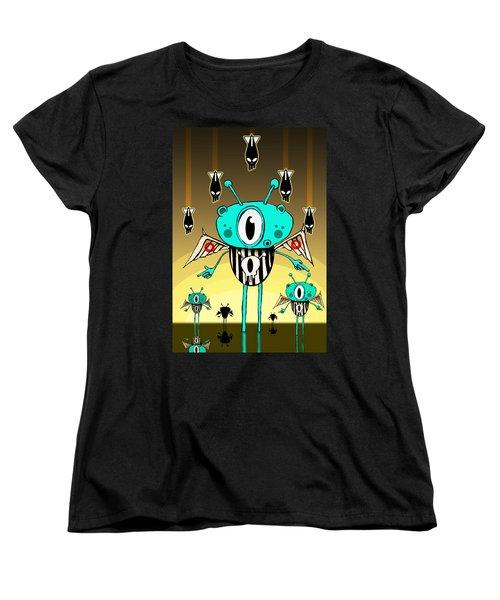 Team Alien Women's T-Shirt (Standard Cut) by Johan Lilja