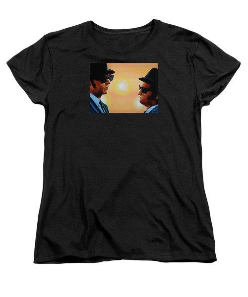 The Blues Brothers Women's T-Shirt (Standard Cut) by Paul Meijering