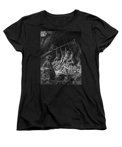 The Dead Sailors Rise Up And Start To Work The Ropes Of The Ship So That It Begins To Move Women's T-Shirt (Standard Cut) by Gustave Dore