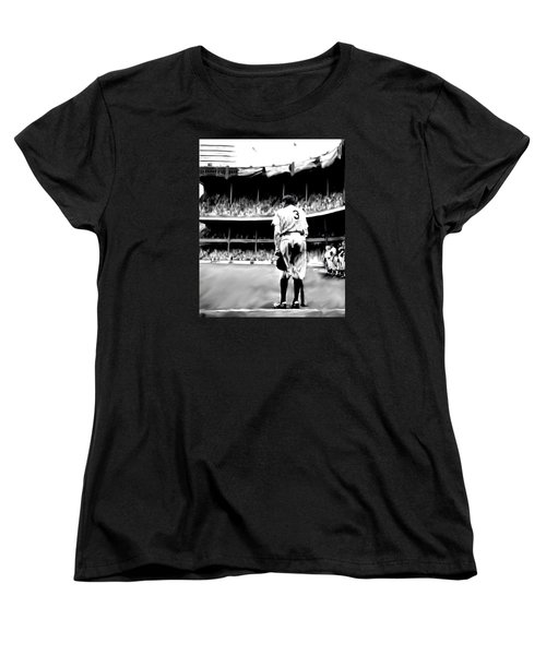 The Greatest Of All  Babe Ruth Women's T-Shirt (Standard Cut) by Iconic Images Art Gallery David Pucciarelli