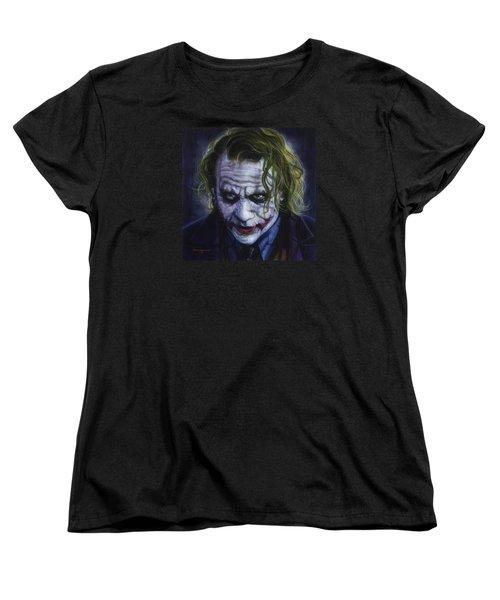 The Joker Women's T-Shirt (Standard Cut) by Tim  Scoggins