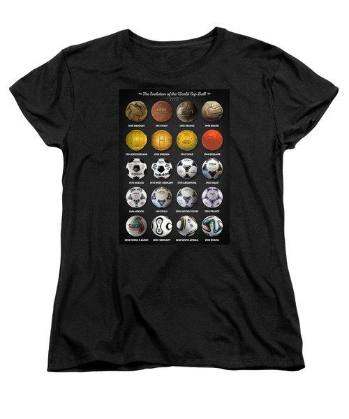 The World Cup Balls Women's T-Shirt (Standard Cut) by Taylan Apukovska
