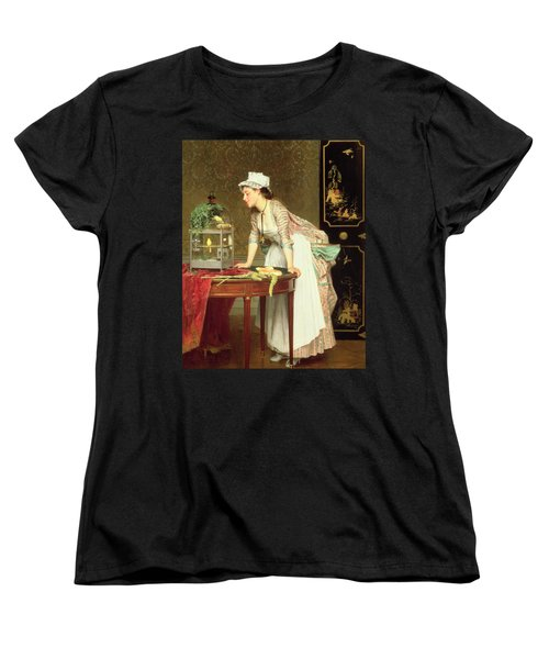 The Yellow Canaries Women's T-Shirt (Standard Cut) by Joseph Caraud