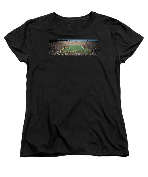 University Of Michigan Stadium, Ann Women's T-Shirt (Standard Cut) by Panoramic Images